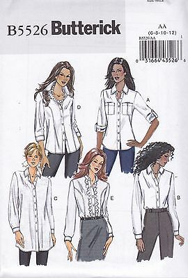 Butterick Sewing Pattern Misses' Fitted Shirts Sizes 6 - 22 B5526