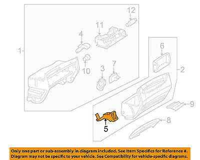 Mercedes MERCEDES-BENZ OEM 03-05 CLK320 Glove Box-Latch 2096800184