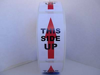 THIS SIDE UP 1x2  Warning Sticker Label 500/rl