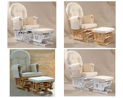 Sereno (natural wood or white) Nursing Glider maternity rocking chair SRP£299