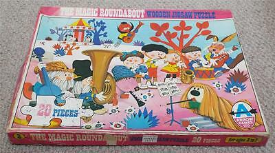 VINTAGE BBC THE MAGIC ROUNDABOUT WOODEN JIGSAW PUZZLE c1970