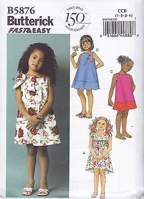 Butterick Sewing pattern Toddlers'/Children's Pullover Dress Size 1- 6 B5876