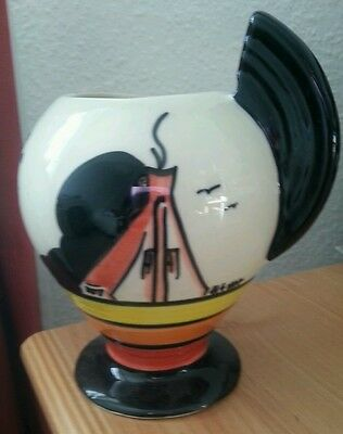 Art Deco Crown Devon Dorothy Ann Hilltop vase