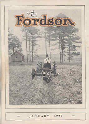 Jan 1924 Ford Fordson Tractor Factory Magazine Brochure Oliver Equipment wu4132