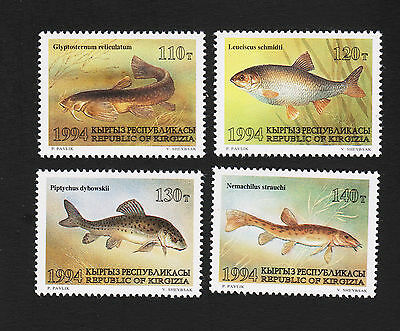 1994 Kyrgyztan Fish Set Sc#29-32 Mint Never Hinged
