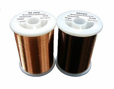 Pickup Winders Kit #9 - 42 AWG & 42 Plain Enamel Copper Magnet Wire - 8 oz