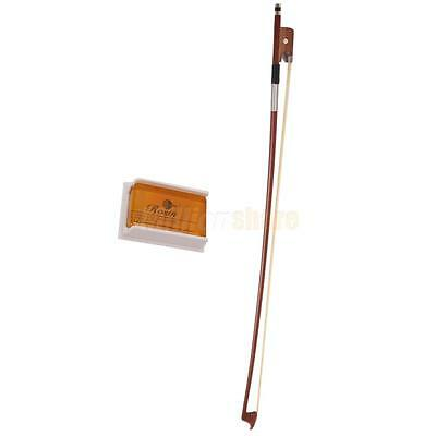 LETO No.601 Violin Viola Cello Rosin+4/4 Rosewood Round Stick Cello Bow Brown