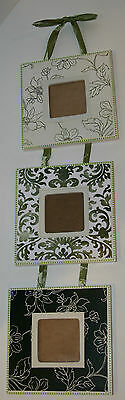Set of Three Wooden Hanging Photo Frames