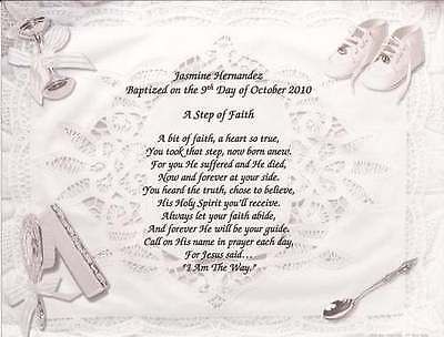 Personalized Poem for Baby Baptism or Christening