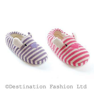 NEW* Girls Pink or Purple Rabbit Slippers in 4 sizes