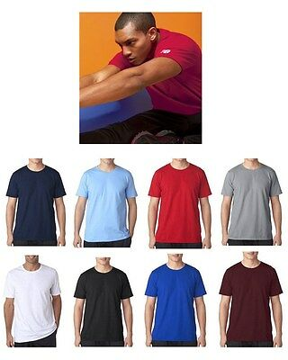c8f4fab3be18e NEW BALANCE Mens Short Sleeve ATHLETIC WORKOUT Gym Cotton T-Shirt S-2X 3XL