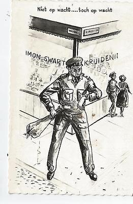 military postcard soldier netherlands holland