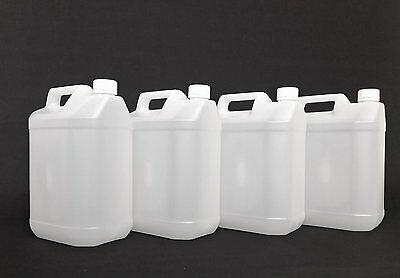 New 4 x 5L Litre 1 Gallon Plastic  Jerry Can Water Container Carrier Bottle