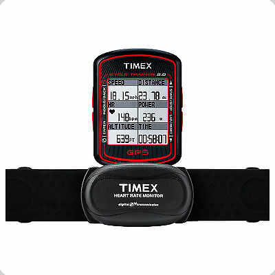 Timex Ironman Cycle Trainer 2.0 Bike Computer w/ GPS & Heart Rate Monitor T5K615