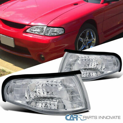 Ford 94-98 Mustang Replacement Clear Corner Parking Lights Turn Signal Lamps