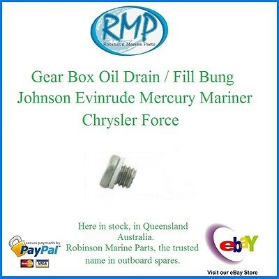 A Brand New Evinrude Mercury Chrysler Gearbox Oil Drain / Fill Bung # 307551