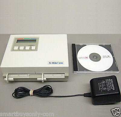 X-Rite 890 Color Photographic Densitometer Power supply & manual Excellent Cond.