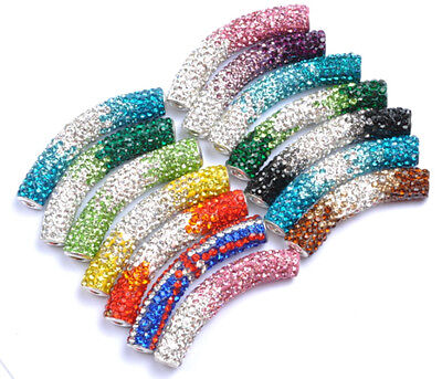 Austrian Crystal New Micro Pave CZ Disco Beads Fit Bracelets Earrings Necklace