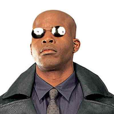 Morpheus Sunglasses Matrix Glasses Fancy Dress Up Halloween Costume Accessory