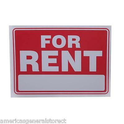 """FOR RENT red & white 9"""" x 12"""" flexible PLASTIC sign apartment house condo store"""