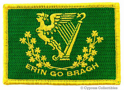 ERIN GO BRAGH EMBROIDERED PATCH new IRISH IRELAND FLAG iron-on EIRE St. Patrick