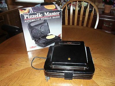 SALTON AUTOMATIC PIZZELLE MASTER COOKIE BAKER MAKER model WM - 6A with BOX