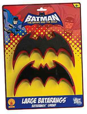 Batman Brave & Bold Black Red Batarangs Toy Weapon Halloween Costume Accessory