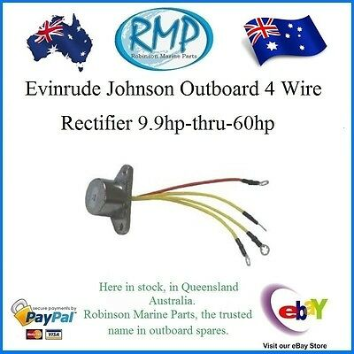 A Brand New Evinrude Johnson Outboard 4 Wire Rectifier 9.9hp-thru-60hp R 581778