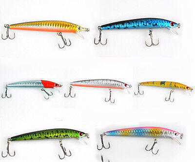 8.5g 100mm Sinking Fishing Lures Crankbait Crank Bait Bass Tackle Treble Hook