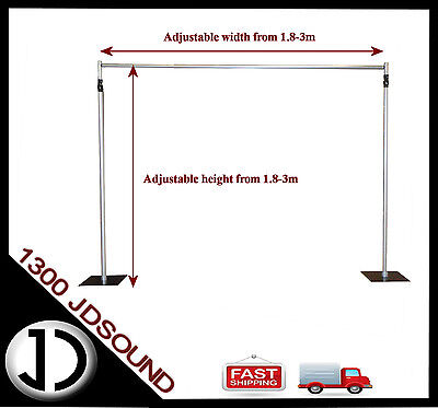 3 x 3m- Aluminium Pipe and Drape system / Drape Support system - adjustable