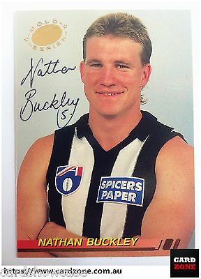 1994 Select AFL Signature Gold Card G6 Nathan Buckley (Collingwood)