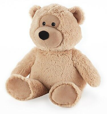 Intelex Cozy Plush Beige Bear Microwavable Heatable Bed Time Warmer Soft Gift