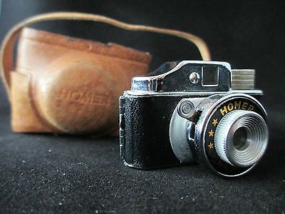 Mini Camara Homer Con Funda Vintage /  Vintage Homer Mini Camera With Case