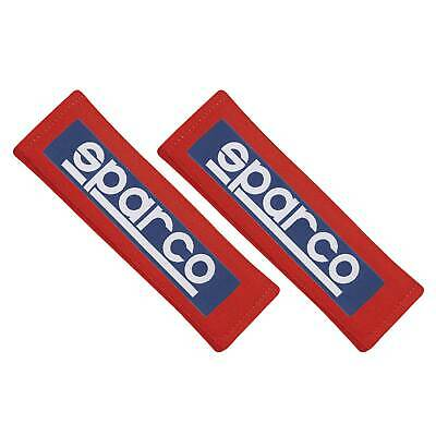 """Sparco 3"""" Wide Motorsport/Racing/Rally Harness/Seat Belt Pads (Pair) In Red"""
