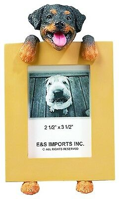 "Rottweiler Small Picture Frame 2 1/2"" x 3 1/2"" Dog Photo Frame E&S 35315-33"