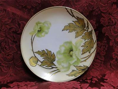 Reinhold Schlegelmilch Germany, Green Flowers, Gold Leaves: Bread Plate (s), 6""