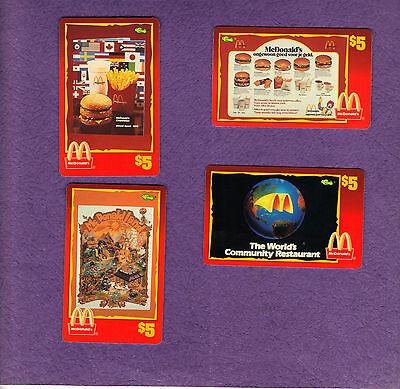 1996 Classic/Sprint McDonald's $5 Phone Cards  Ronald Kroc Golden Arches Big Mac