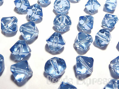 200pc Crystal Glass Value Bicone Beads- Sky Light Blue 4mm (BB4010)