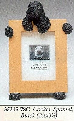 "E&S 35315-78C Cocker Spaniel Black Small Picture Frame 2 1/2"" x 3 1/2"" NIB"