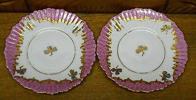"Pair Small Porcelain Dishes / Plates - 5"" - Imperial Vienna Austria"