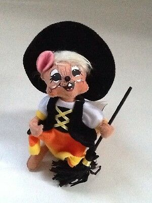 """Annalee Halloween Candy Corn Witch Mouse 6"""" NWT 2012"""