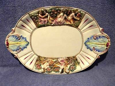"""Capodimonte Handpainted 19"""" Serving Platter Plate Tray Made In Italy"""