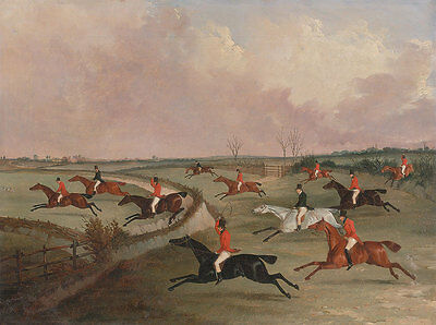 The Quorn Hunt in Full Cry Henry Alken Dalby Pferde Reiter Springen B A3 00002