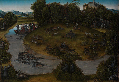 Stag Hunt of the Elector Frederic the Wise 1463-1525 of Saxony Jagd B A3 00118