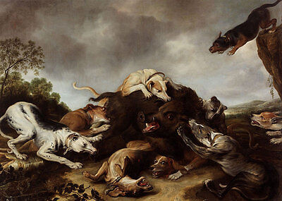The boar hunt Frans Snyders Eber Wildschwein Hunde Jagd Beute Tiere B A3 00121