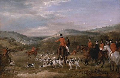 The Berkeley Hunt, 1842: The Meet Francis Calcraft Turner Jagd Pferde B A3 00129