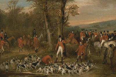 The Berkeley Hunt, 1842: The Death Francis Calcraft Turner Jagd Pferd B A3 00130