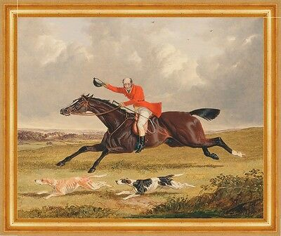 Foxhunting: Encouraging Hounds John Frederick Herring Reiter Jagd B A3 00160