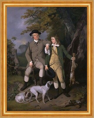 Portrait of a Sportsman with His Son Francis Wheatley Jäger Beute B A3 00167