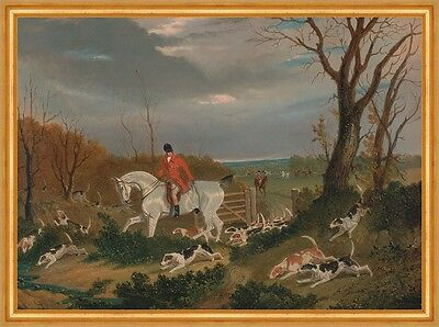 The Suffolk Hunt: Going to Cover near Herringswell Pferd Jagd Herring B A2 00125